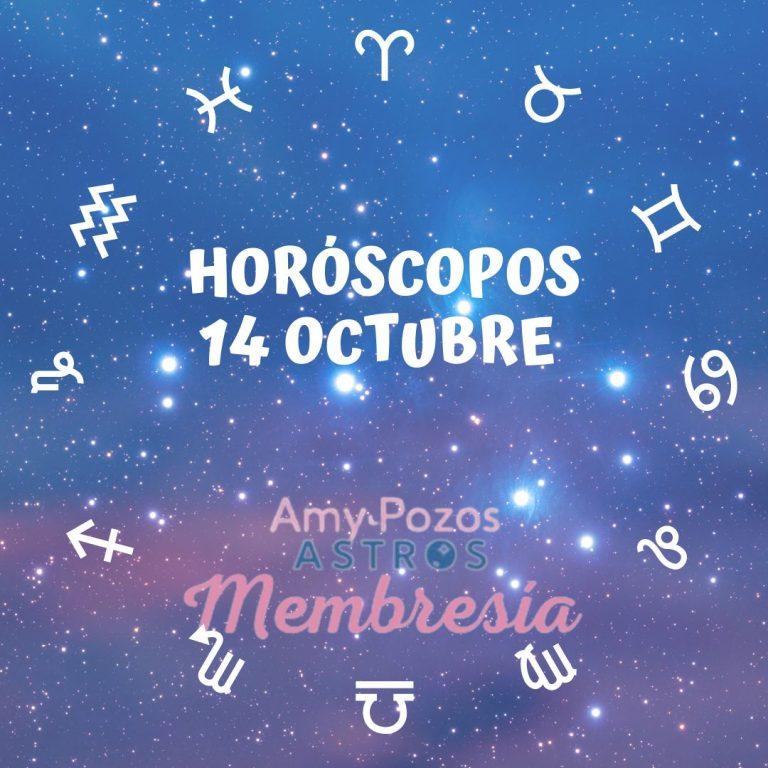 Horóscopos jueves 14 de octubre 2021