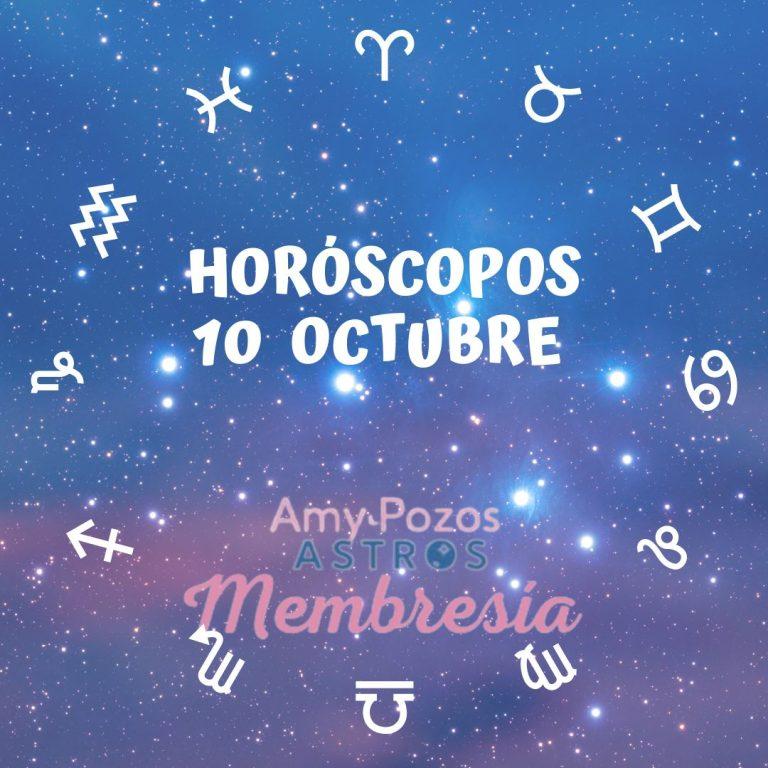 Horóscopos domingo 10 de octubre 2021