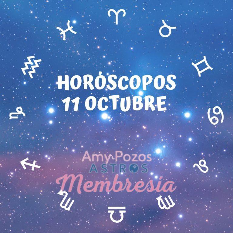 Horóscopos lunes 11 de octubre 2021