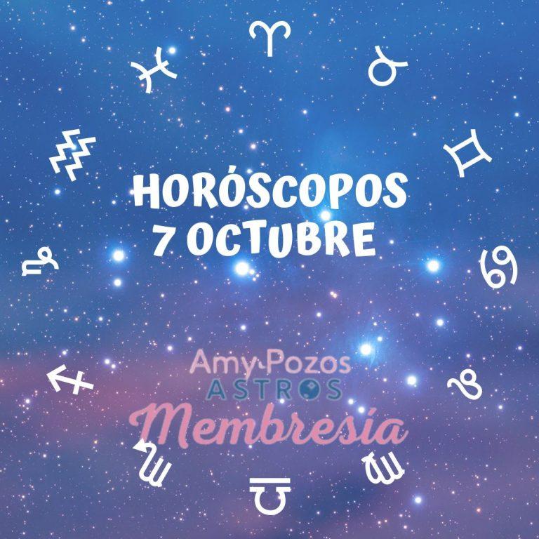 Horóscopos jueves 7 de octubre 2021
