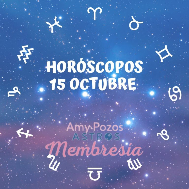 Horóscopos viernes 15 de octubre 2021